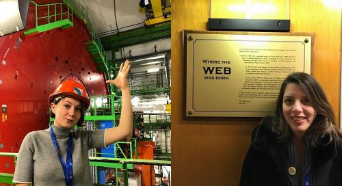 Minds blown at the LHC and birthplace of the internet
